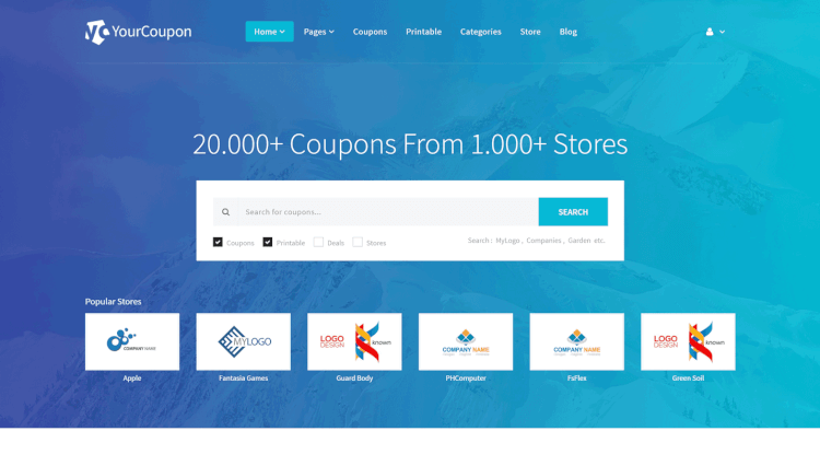 YourCoupon - Deals and Coupon Site WordPress Theme