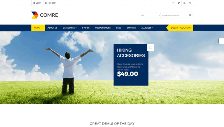 Comre - Deals and Coupon Sites WordPress Theme