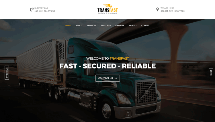Transfast - Logistic and Transport WordPress Theme