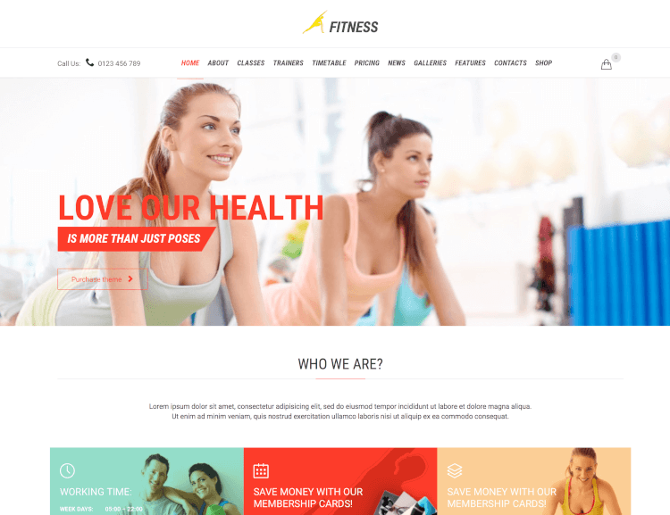Fitness & Gym - WordPress Theme