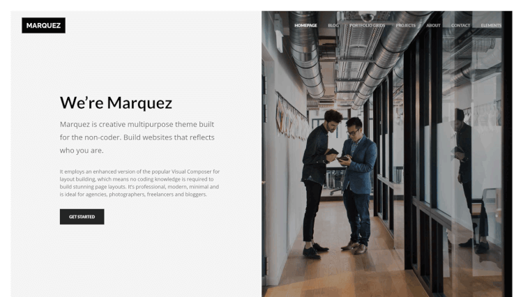 Marquez - Creative Freelancer and Agency WordPress Theme