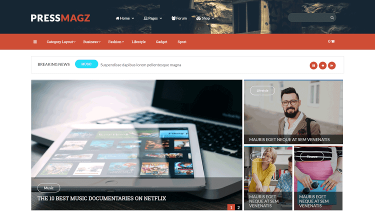 PressMagz - Editorial News and Magazine WordPress Review Theme