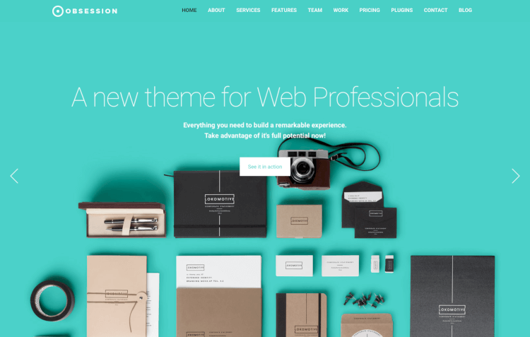 Obsession - Material Design WordPress Theme