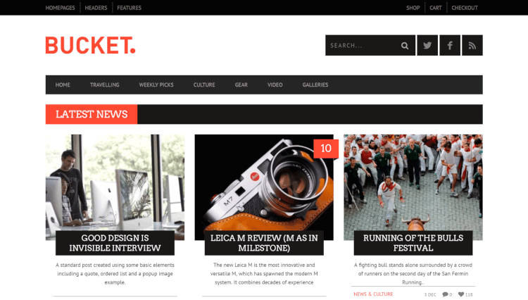 Bucket - Magazine-Style WordPress Review Theme