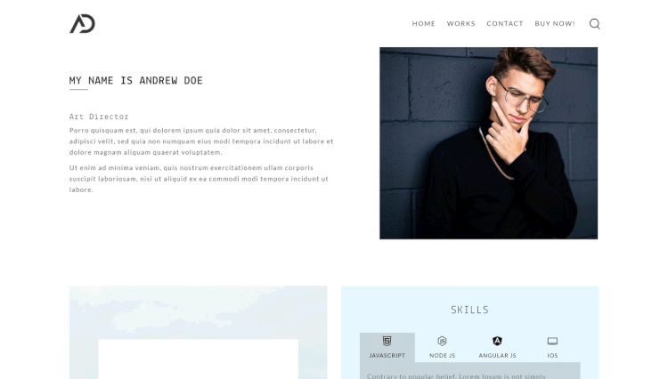 Oak - Creative Portfolio Dribbble WordPress Theme