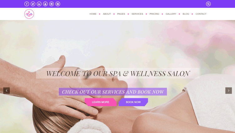 Balanced Spa - Hair Salon WordPress Theme
