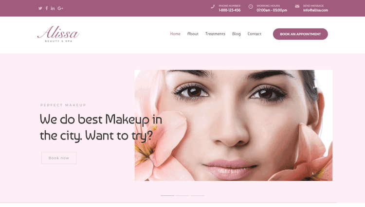 Alissa - Spa and Hair Salon WordPress Theme