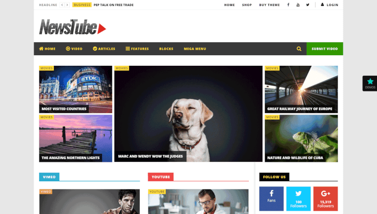 25+ Best YouTube & Video Gallery WordPress Themes 2018 - Theme Junkie
