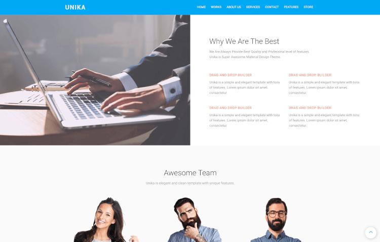 Unika - Responsive Material Design Theme