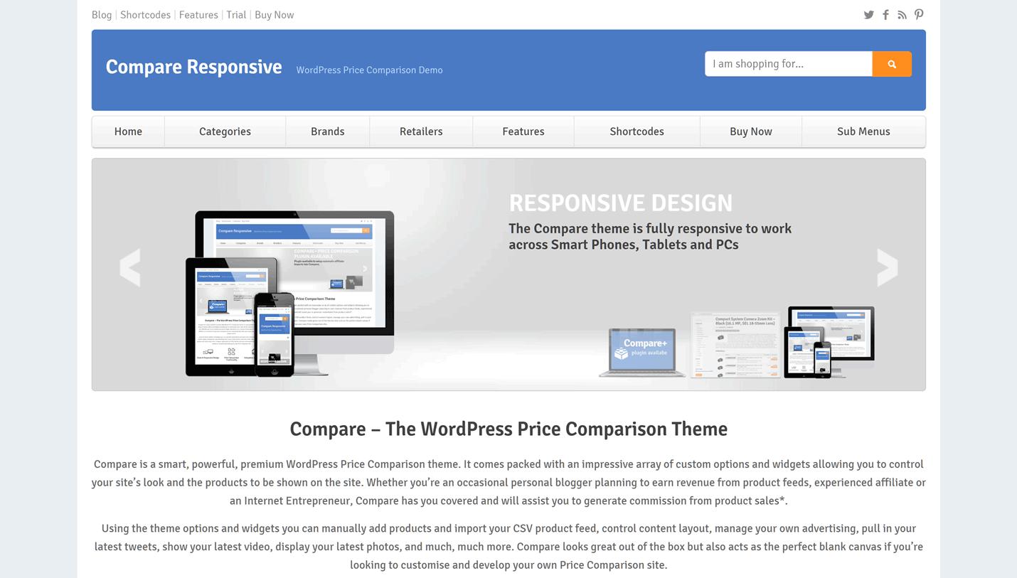 3 Price Comparison WordPress Themes & Templates