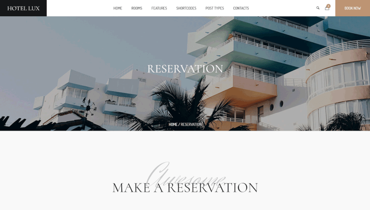 Hotel Lux - Resort and Hotel WordPress Theme