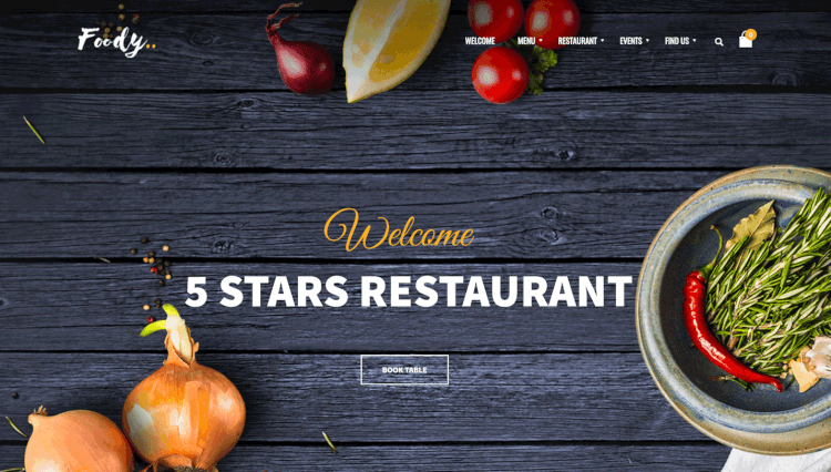 Foody - Luxury Restaurant WordPress Theme