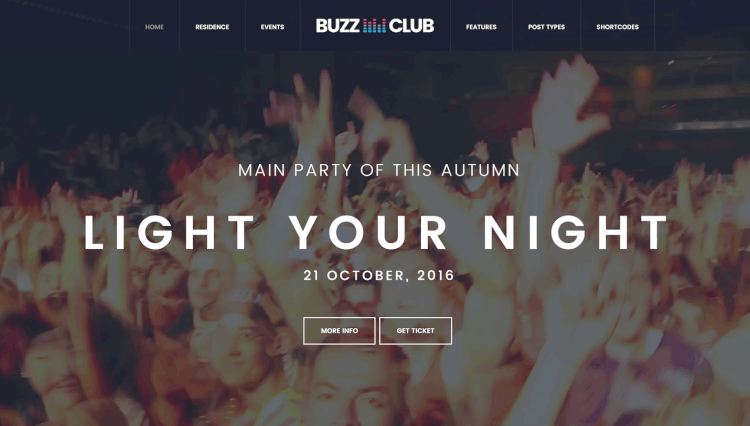 Buzz Club - Nightclub and DJ WordPress Theme