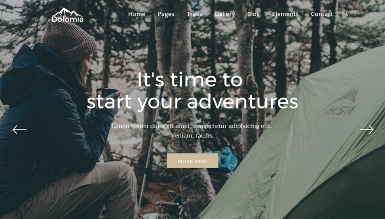 Dolomia - Outdoor Travel Agency WordPress Theme