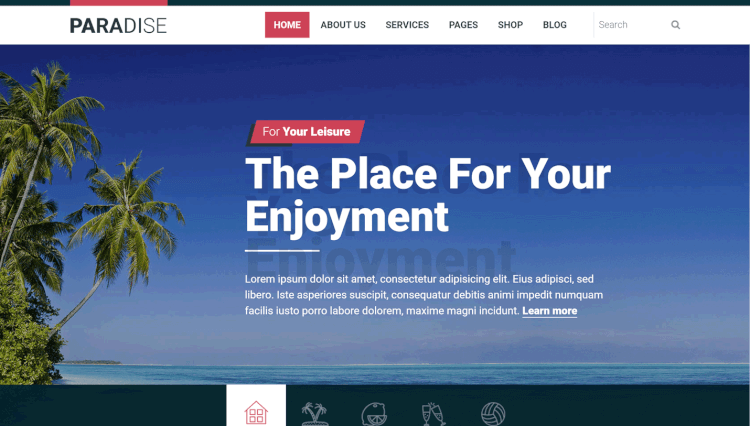 Hot Paradise - Travel Agency WordPress Theme