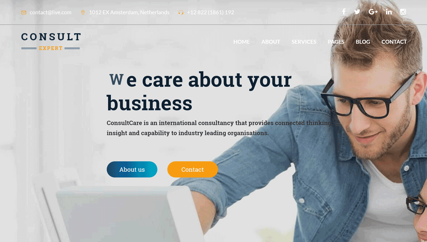 Consult Expert - Business Consulting Visual Composer WordPress Theme