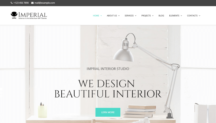 Imperial - Interior Design Slider Revolution WordPress Theme
