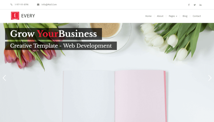 Every - Corporate Business Slider Revolution WordPress Theme