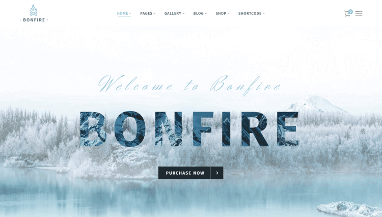 Bonfire - Creative Multi-Purpose Slider Revolution WordPress Theme