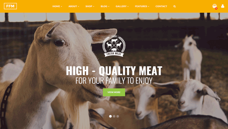 FoodFarm - Farm and Food Slider Revolution WordPress Theme