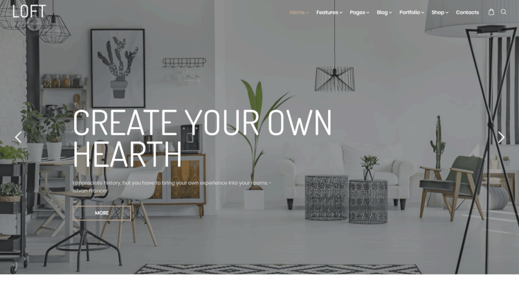 Loft   Interior Design WordPress Theme