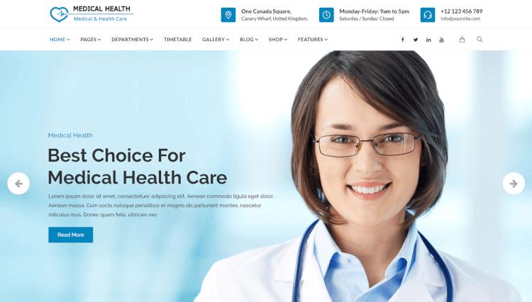 best health wordpress template  30  Best Health WordPress Themes 2018 - Theme Junkie
