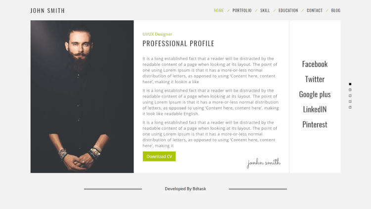 resuma resume cv and portfolio wordpress theme
