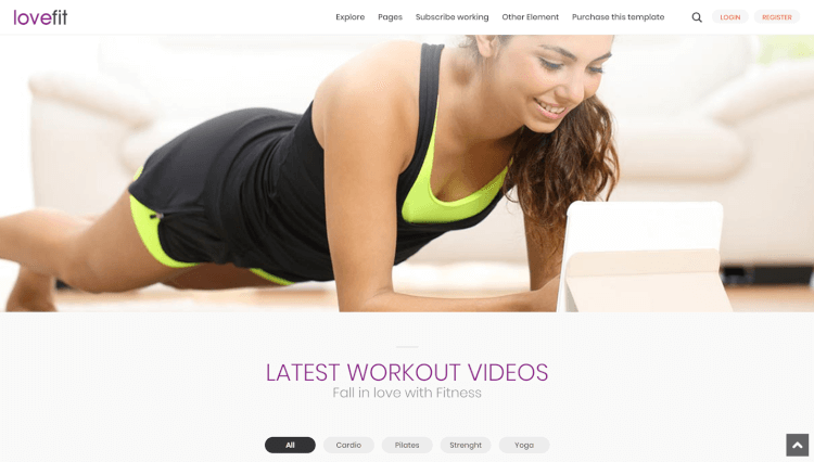 LoveFit - Fitness YouTube and Video Gallery WordPress Theme
