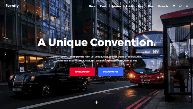 Evently - Multi-Concept Event and Conference Mega Menu WordPress Theme