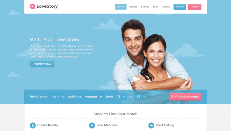 LoveStory - Paid Memberships and Subscriptions Dating WordPress Theme