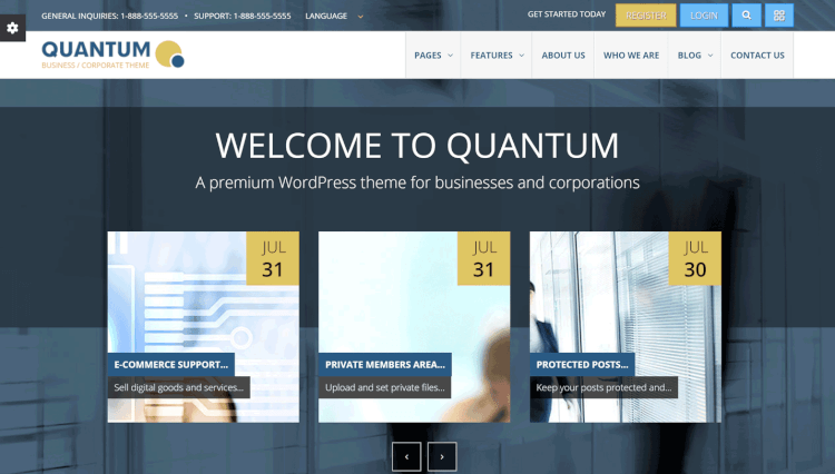 Quantum - Paid Subscription and Memberships Business WordPress Theme