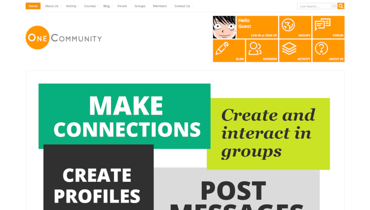 OneCommunity - Community e-Learning Paid Membership WordPress Theme