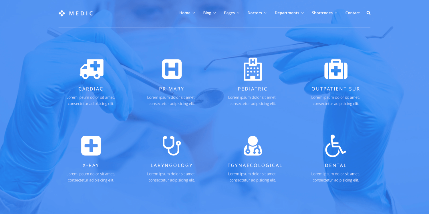Medic - Medical, Health and Hospital Theme