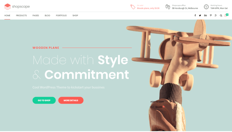 Shopscape - Single Product Wordpress WooCommerce Theme
