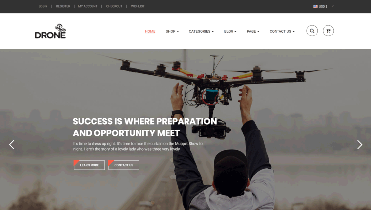 Drone - Single Product WooCommerce WordPress Theme