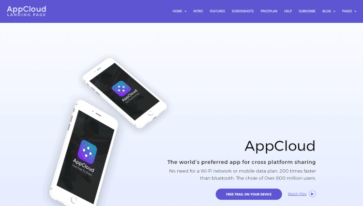 AppCloud - Software and Application Landing Page WordPress Theme