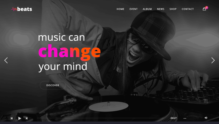 Best DJ WordPress Themes Theme Junkie - Dj website templates