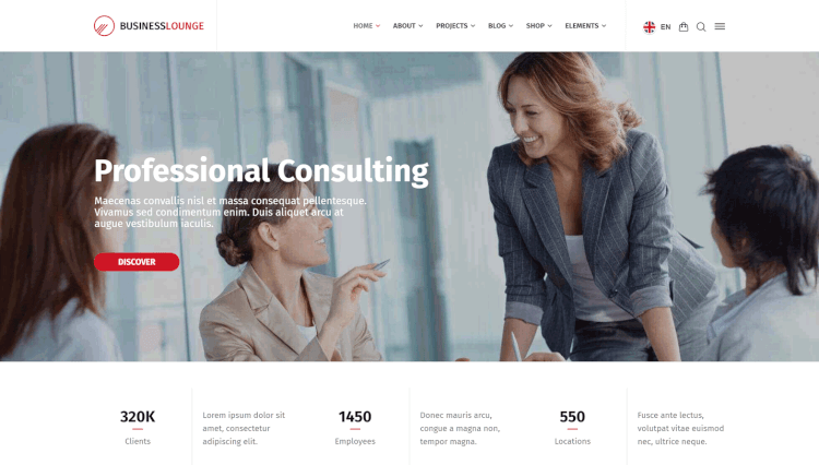 Business Lounge - Multi-Purpose Business and Consulting Elementor WordPress Theme