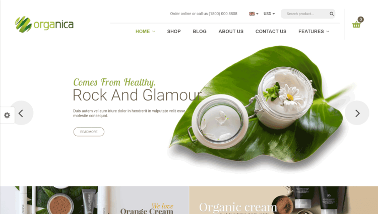 Organica - Healthy Food and Drink WordPress Theme