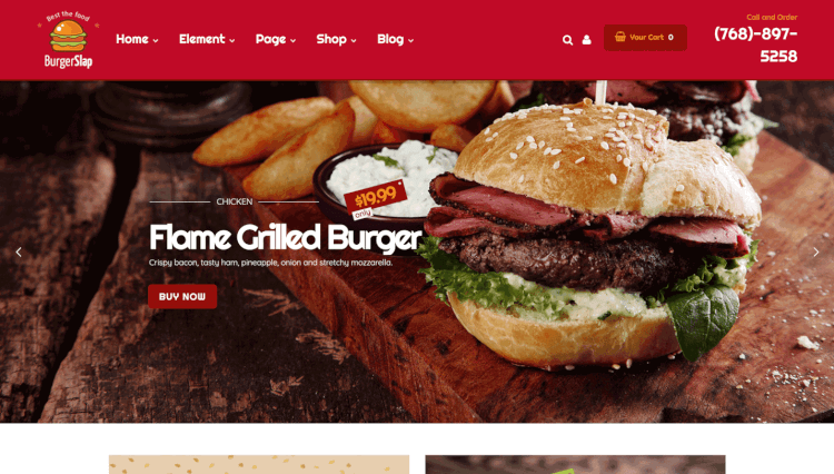 Burger Slap - Fast Food and Drink WordPress Theme