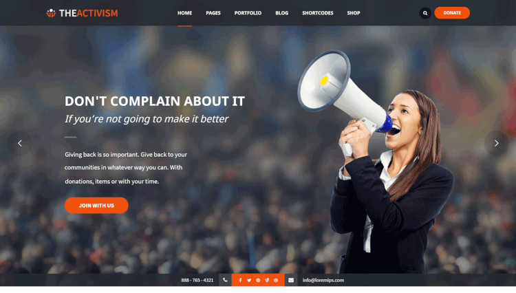 The Activism - Activism and Campaigning Political WordPress Theme