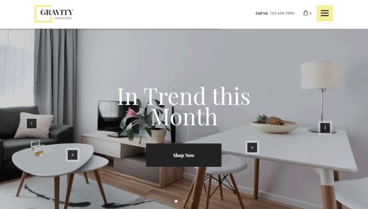 Gravity - Interior Design and Ecommerce Furniture WordPress Theme