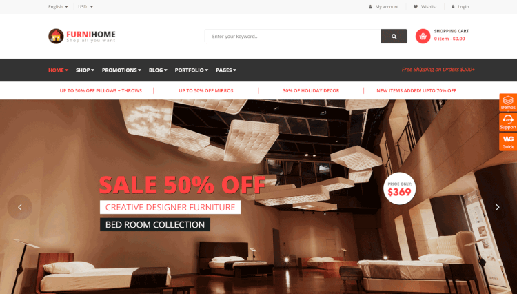 FurniHome - Furniture WooCommerce WordPress Theme