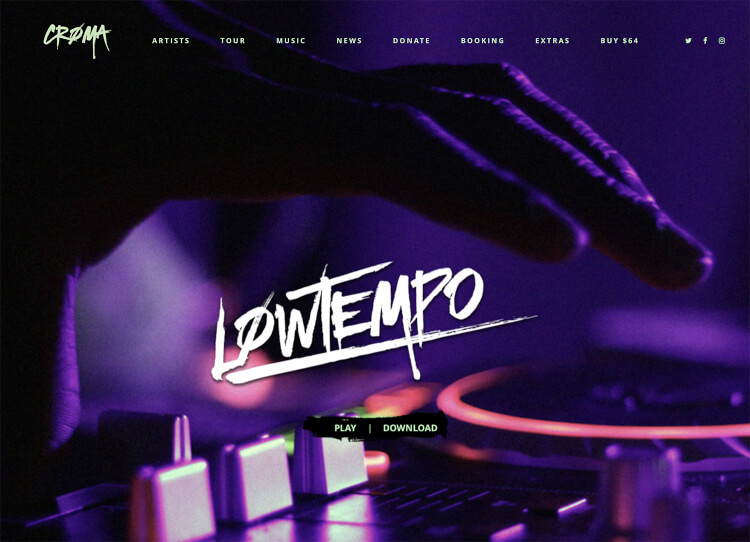 Croma - Responsive DJ WordPress Theme