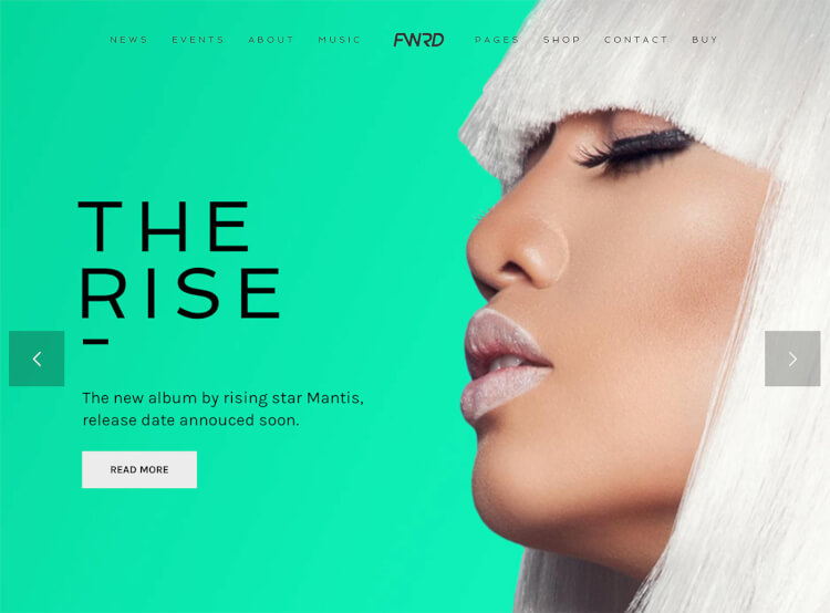 FWRD - Band & Musician WordPress Theme