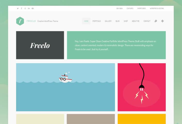 30 best wordpress themes for graphic designers 2018 theme junkie freelo graphic design portfolio theme pronofoot35fo Choice Image