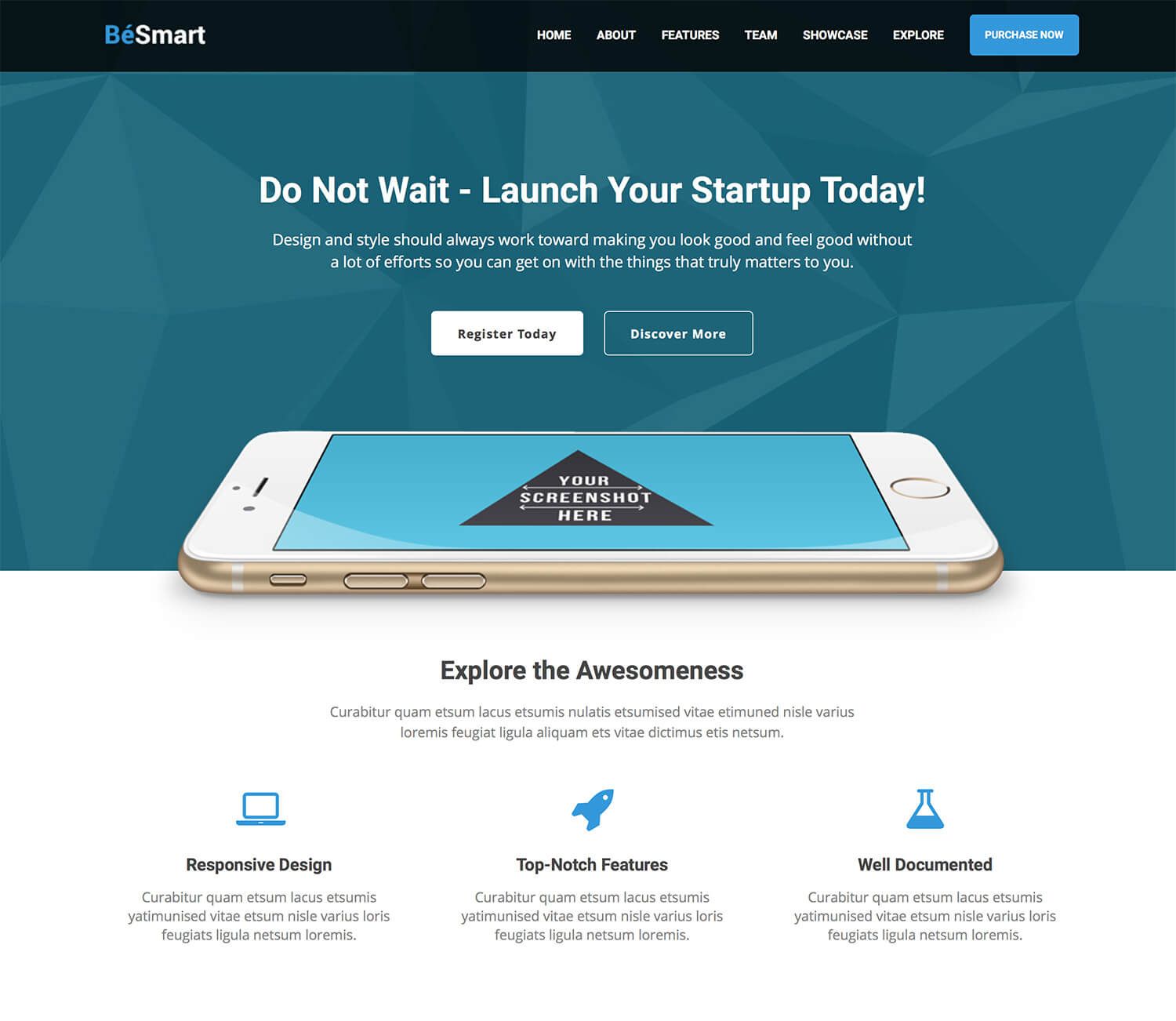 BeSmart High-Converting Landing Page Theme