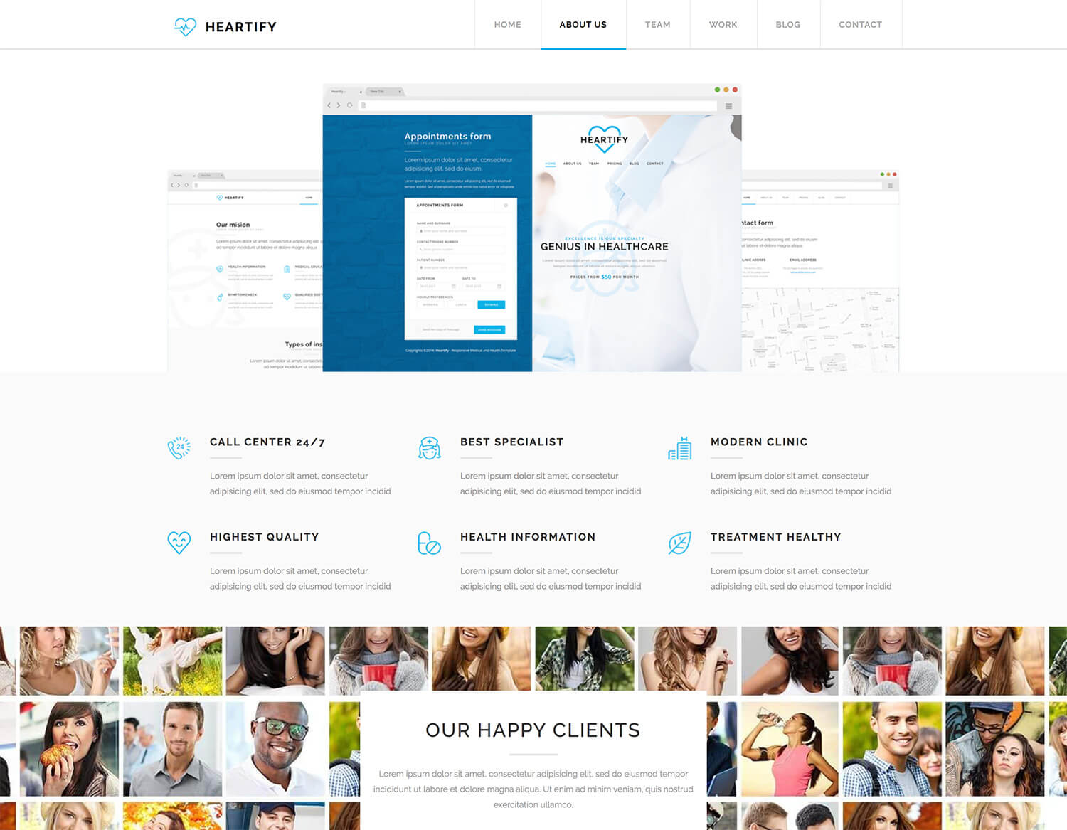Heartify Medical Health & Clinic Theme