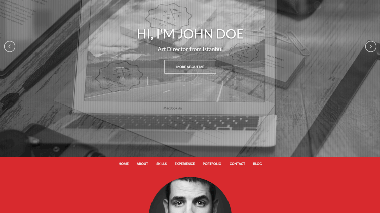 One - Responsive, Personal Resume Theme