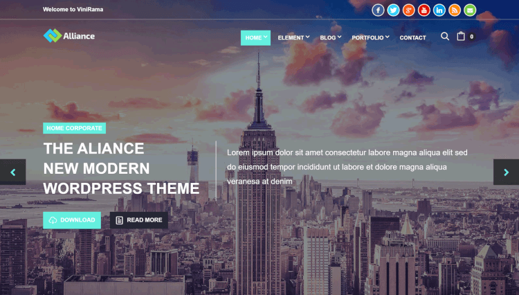Alliance - Business and Marketing SiteOrigin Page Builder WordPress Theme